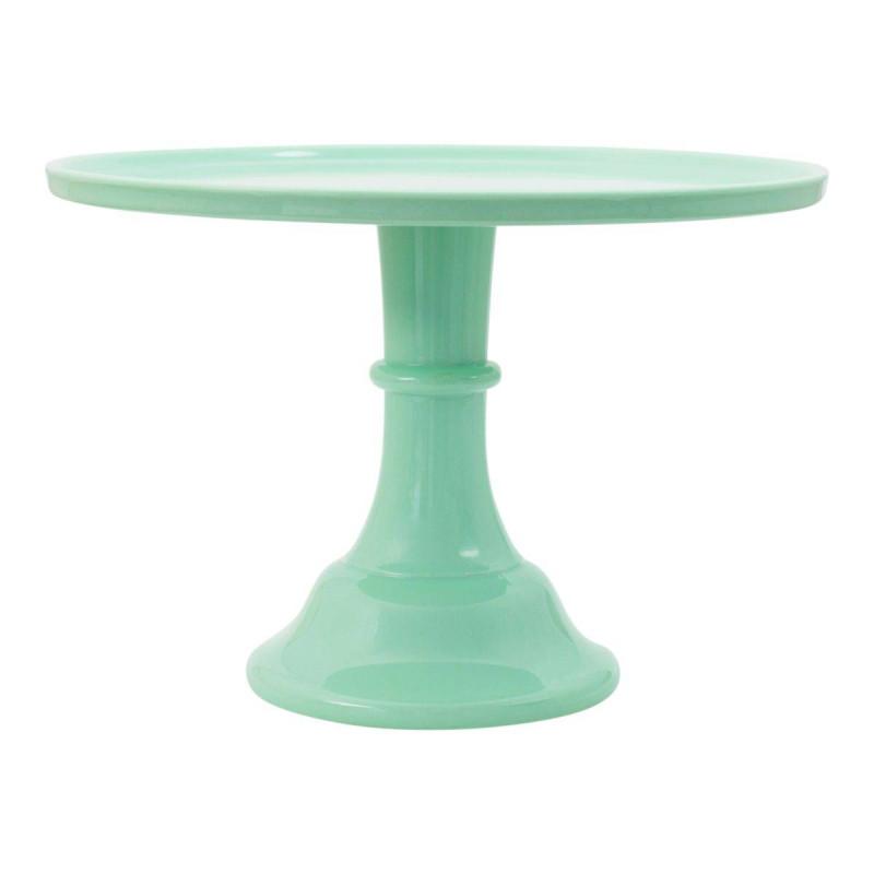 Stand présentoir à gâteaux 30cm vert menthe