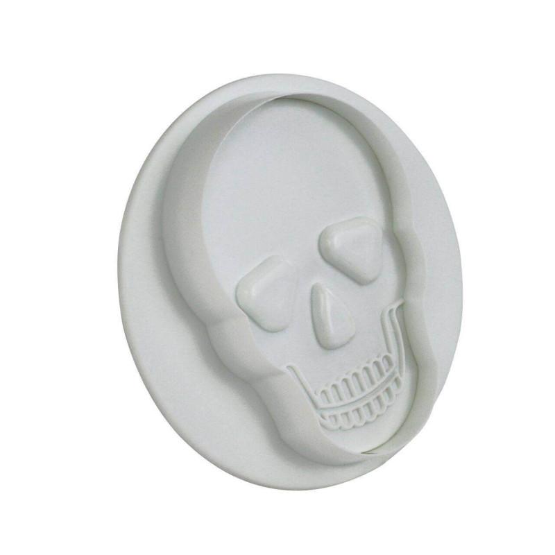 Emporte pièces Crâne et tête de mort et empreinte - 3 tailles
