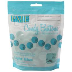Candy Buttons Light Blue 340g