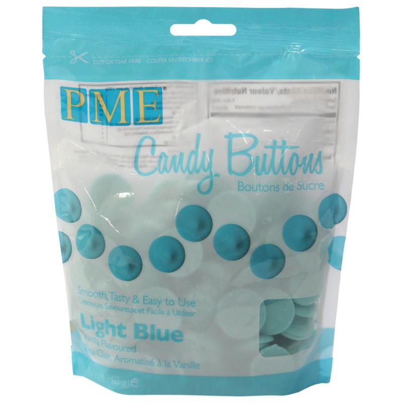 Candy Melt Buttons Azul Claro 340g