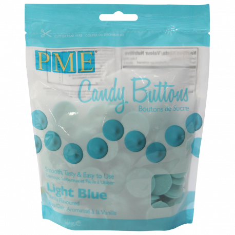Candy Melt Botones azul claro 340g