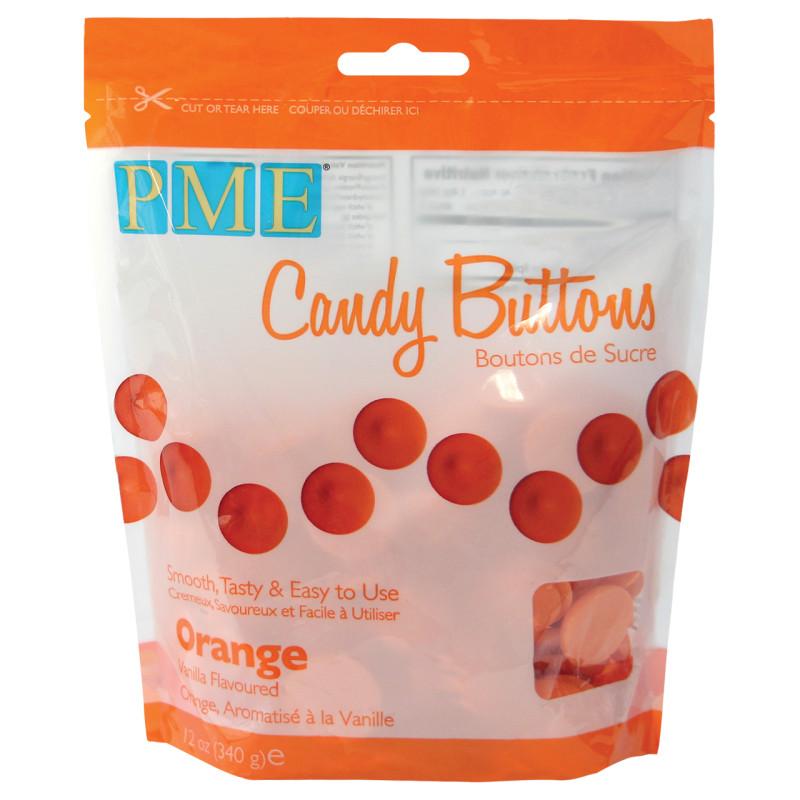 Candy Melt Botones Naranja 340g