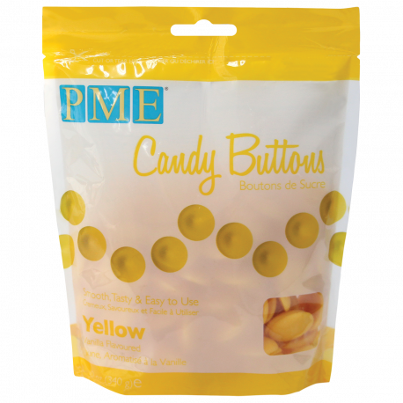 Candy Melt Botones amarillos 340g