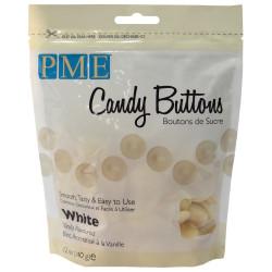 Candy Melt Botones blancos 340g