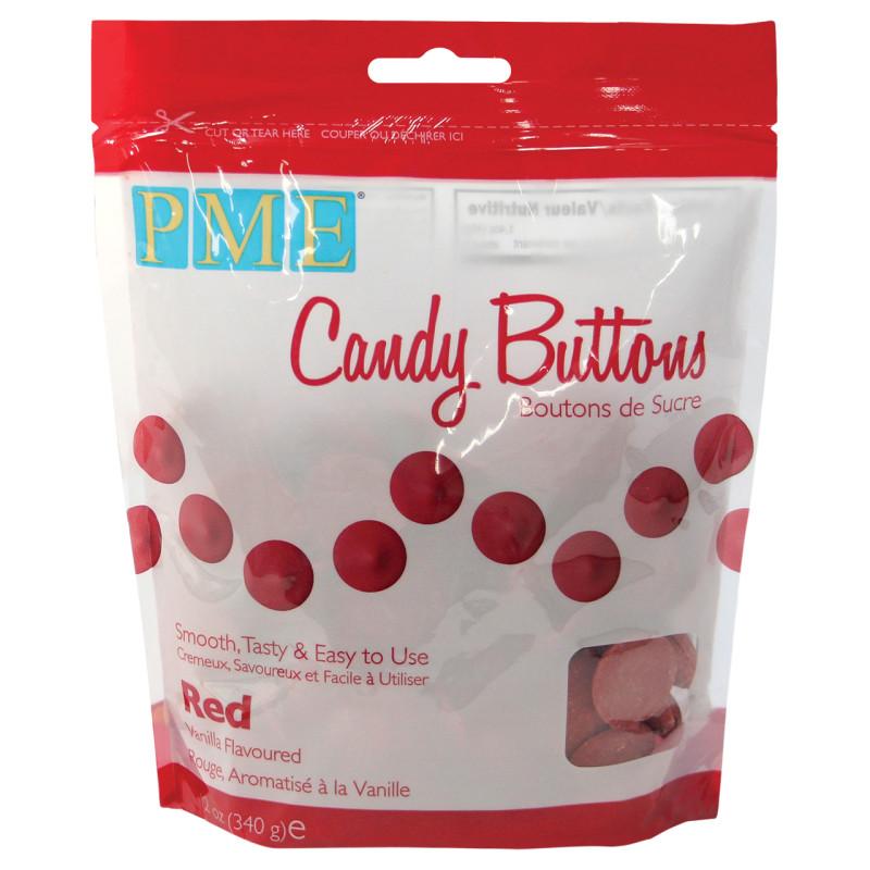 Candy Melt Buttons rojo 340g