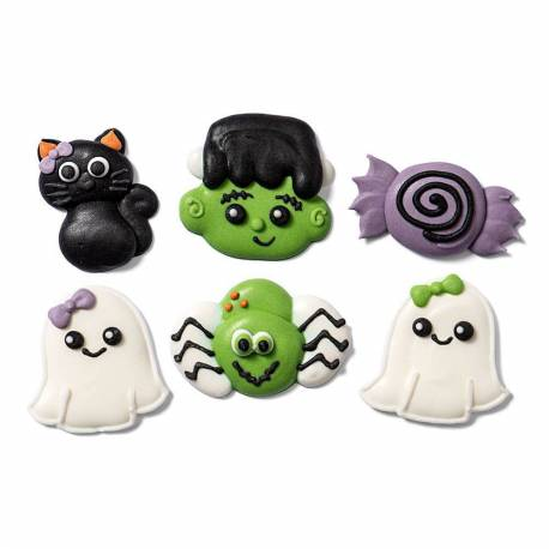 6 Décorations Fantômes Araignée Bonbons Halloween