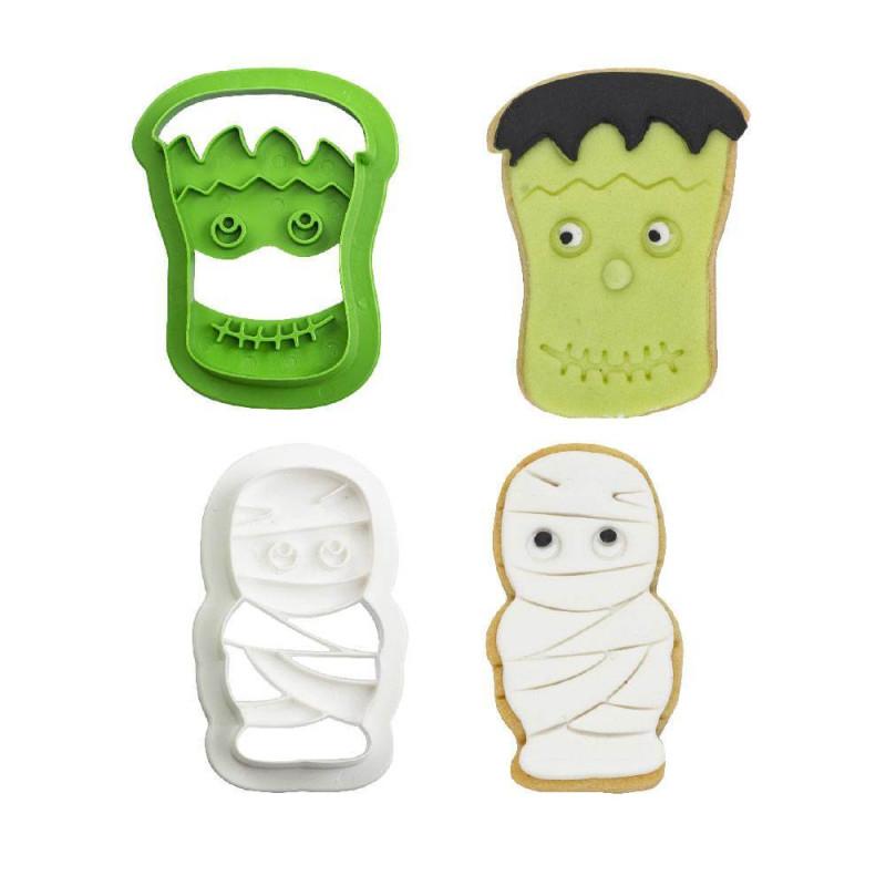 Lot 2 Halloween Mummy and Frankeinstein Cutters