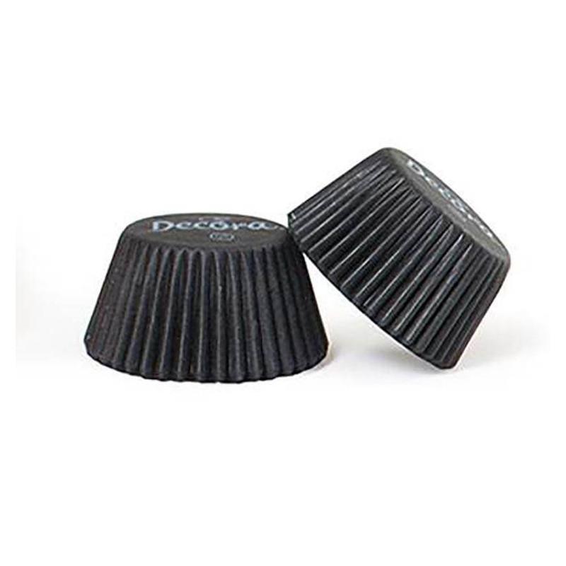 200 mini caissettes à cupcake noires