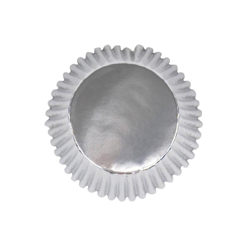 30 caissettes cupcake métallique ARGENT