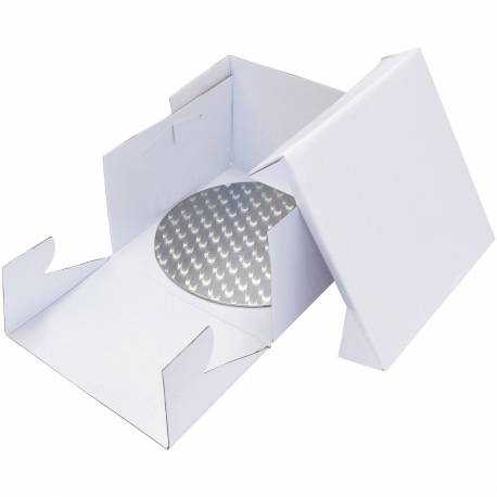 Box with round base and end of presentation 35 cm
