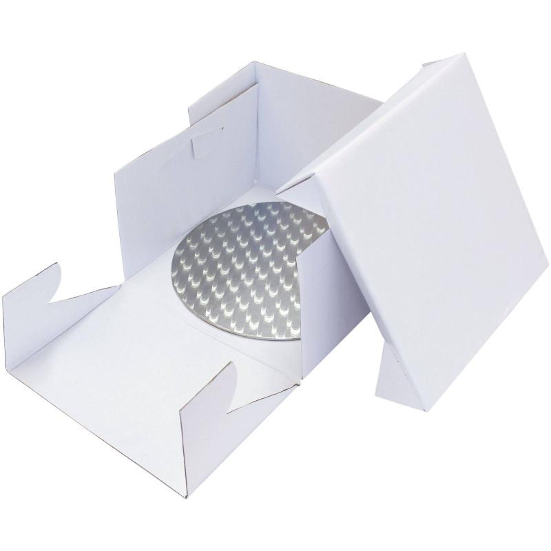 Caja con base redonda y extremo de presentación 28 cm