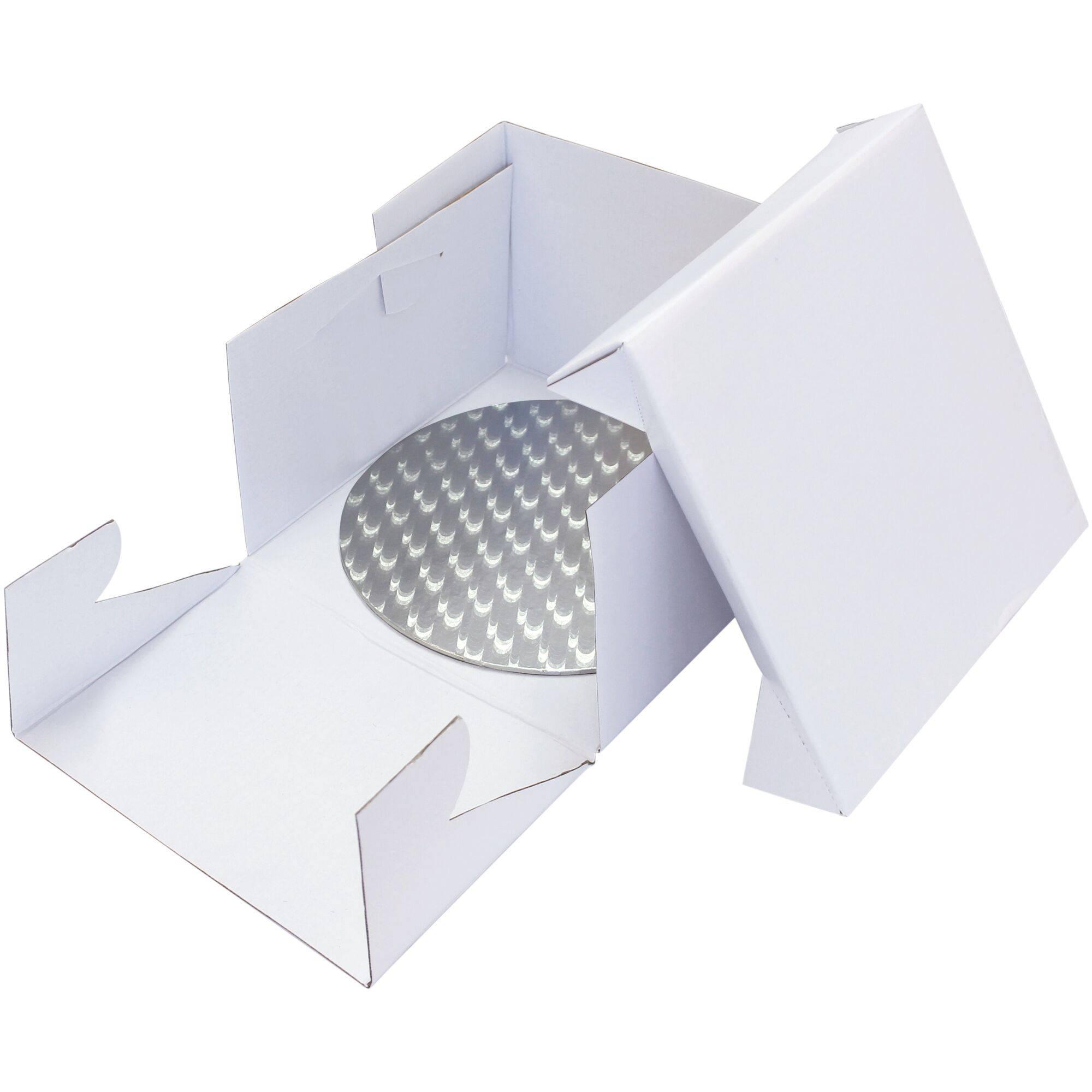 Plateau a gateau rond 20cm Or argent support carton boite