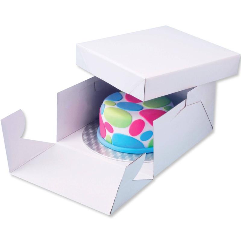 Caja con base cuadrada gruesa para presentación de 20 cm