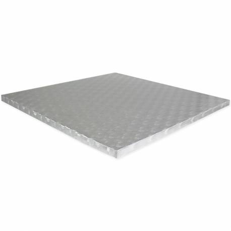 Drum SQUARE cake board thick silver 18cm