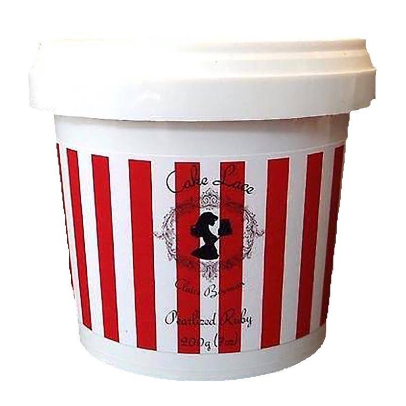 Pastel de encaje de encaje Pastel listo para usar Rojo MOTTLE 200g