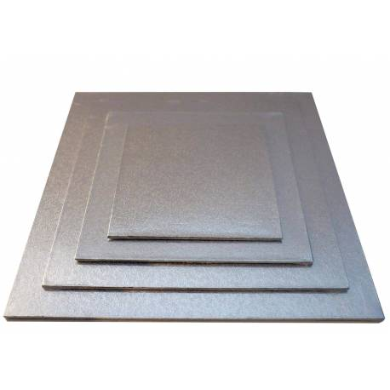 Plateau fin carré pour gâteaux de 15 à 30cm