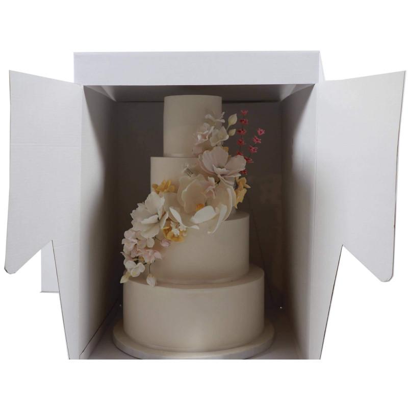 Grande Boîte à gâteau carrée 35cm rigide haut. 45cm