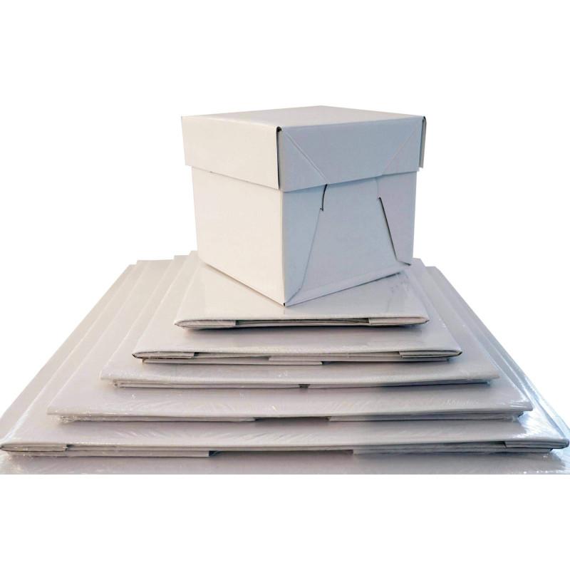 Cajón cuadrado para tarta altura rígida 15 cm