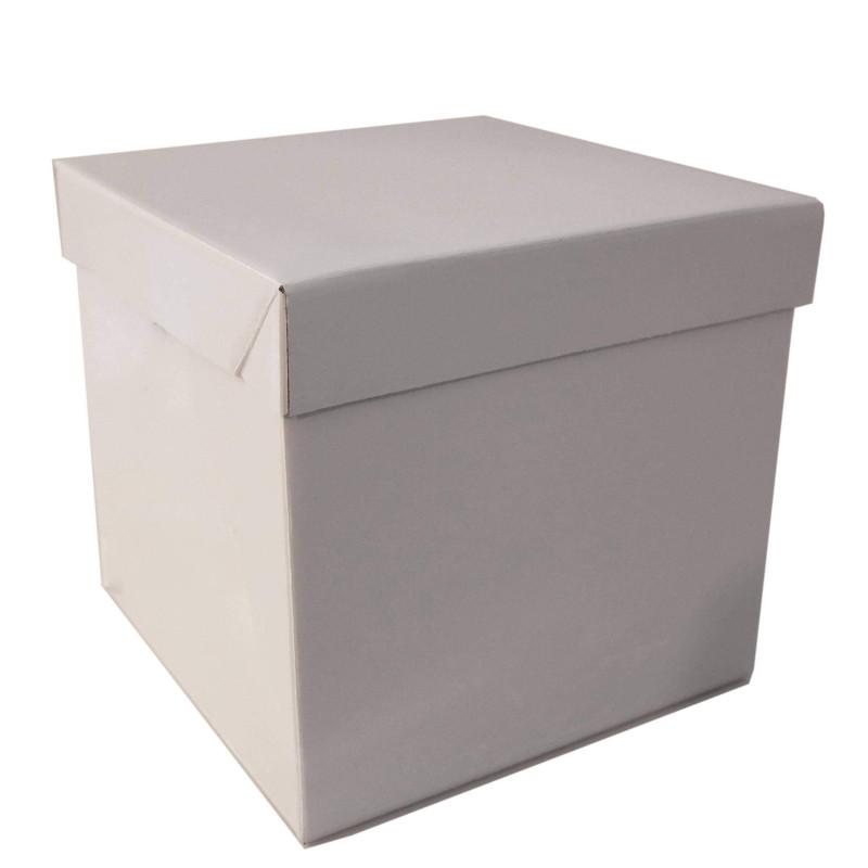 Boîte à gâteau carré rigide 25cm hauteur 25cm