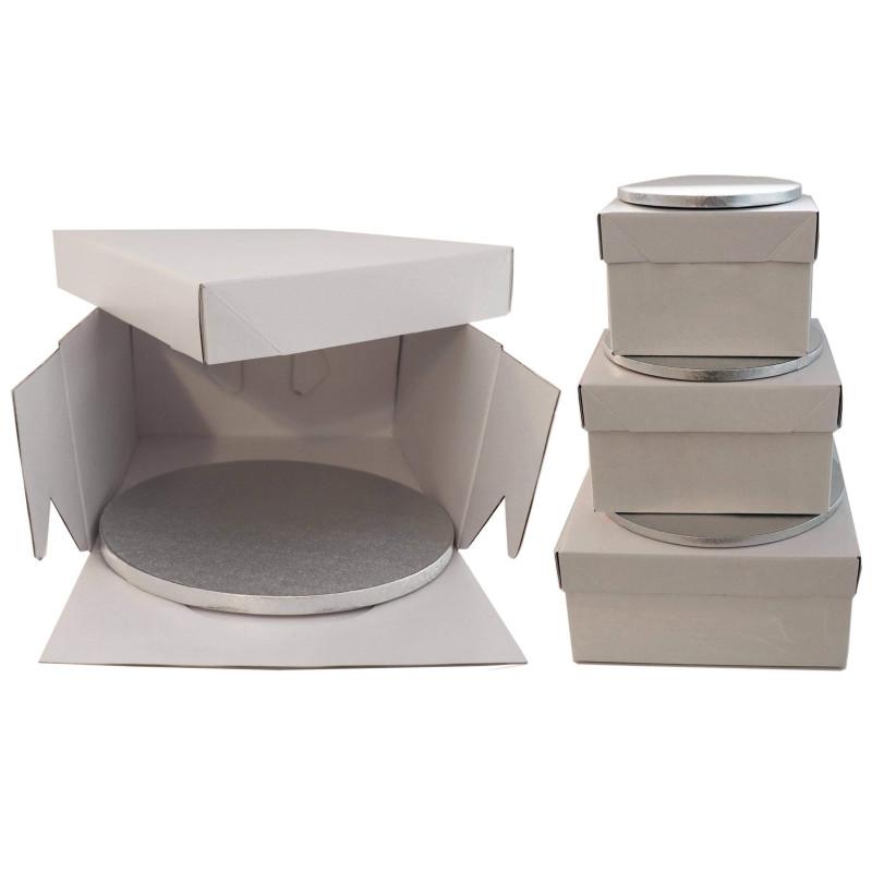 Boîte à gateau rigide haute et plateau épais - 20 a 30cm