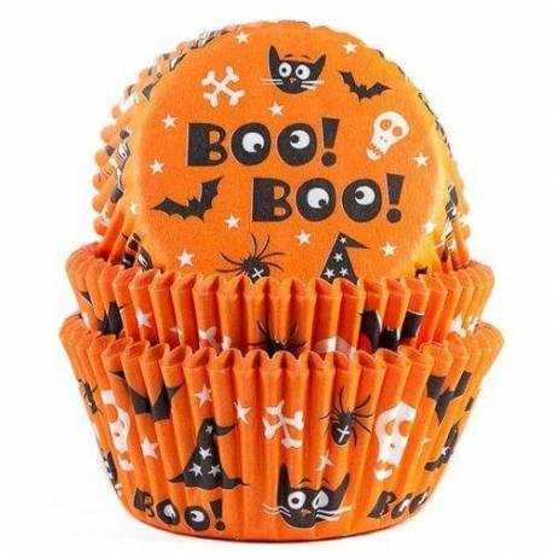 Set of 50 BOO Halloween cupcake boxes