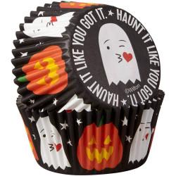 Set de 75 caissettes à cupcakes fantômes et citrouilles