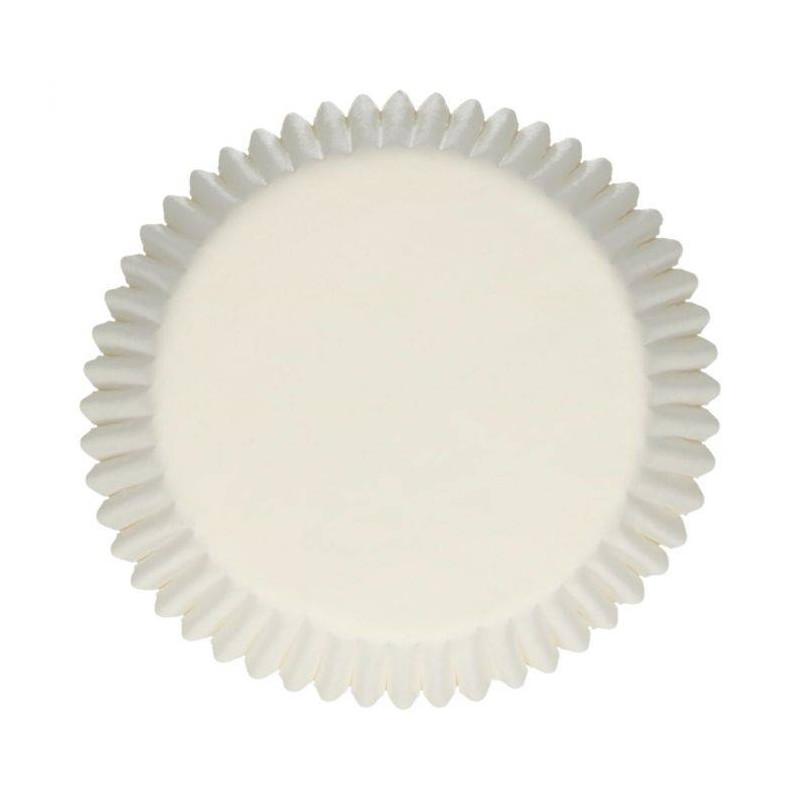 Juego de 500 bandejas de magdalenas blancas FUNCAKES