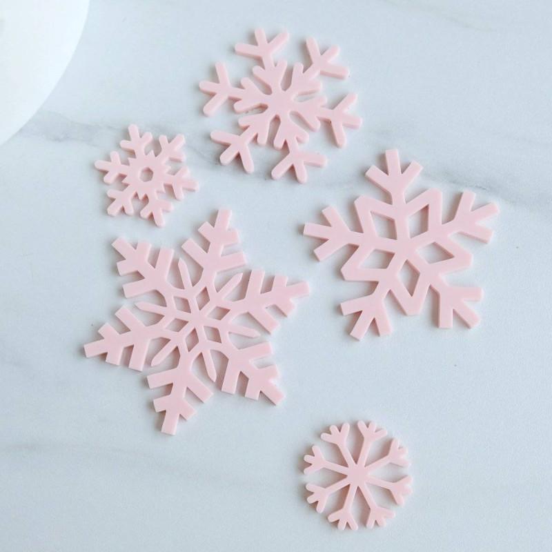 5 Embosseurs flocons de neige Sweet Stamp