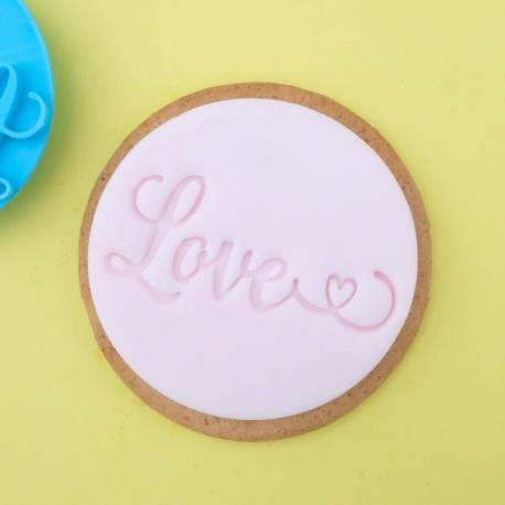 Love Sweet Stamp cookie embosser