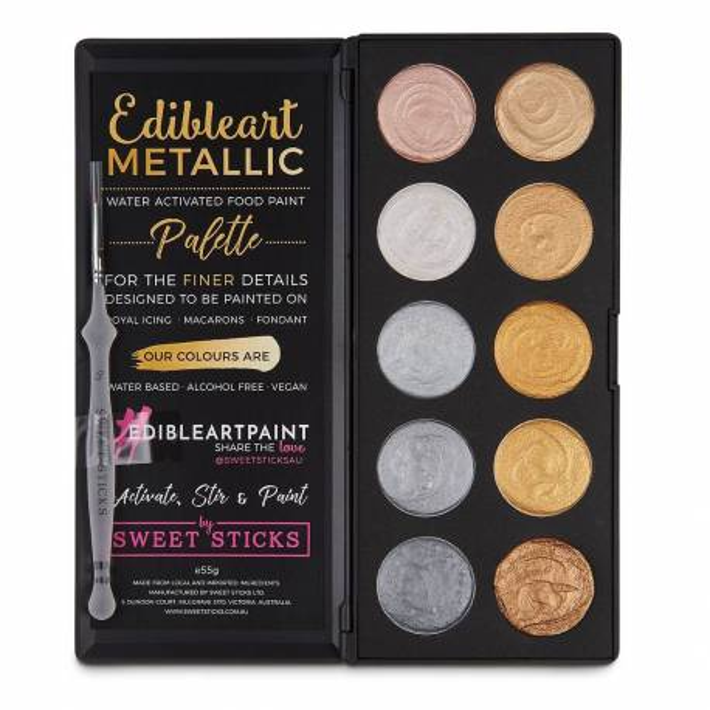 Paleta de colores Sweet Stick dorado y plateado metálico