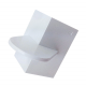 Lisseur angle droit pour gâteaux carrés