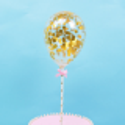 Topper globo de confeti dorado