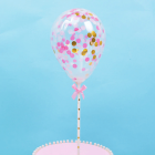 Topper ballon confettis rose