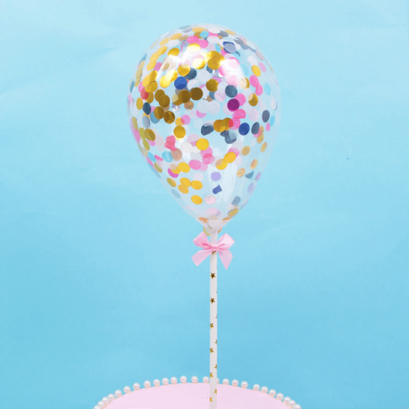 Topper ballon confettis multicolore