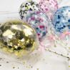 Topper ballon confettis noir et argent