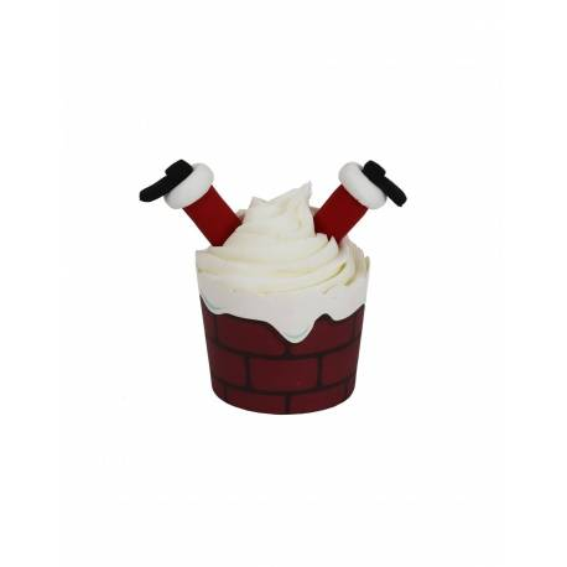 Kit cupcakes père noël renversé PME