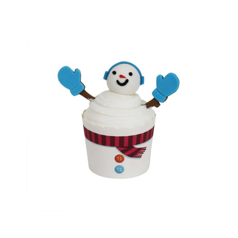 Kit de Cupcakes de muñeco de nieve PME