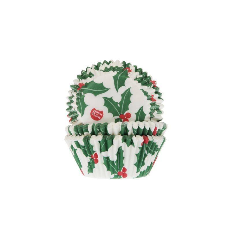 Set de 50 caissettes à cupcakes Houx