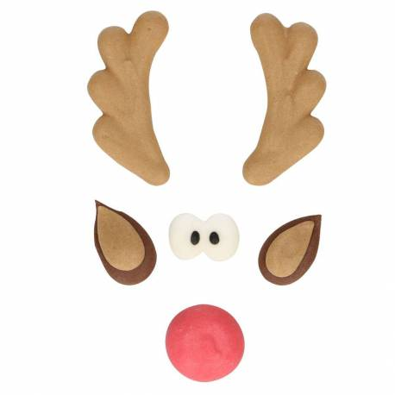 Adornos navideños con azúcar de reno