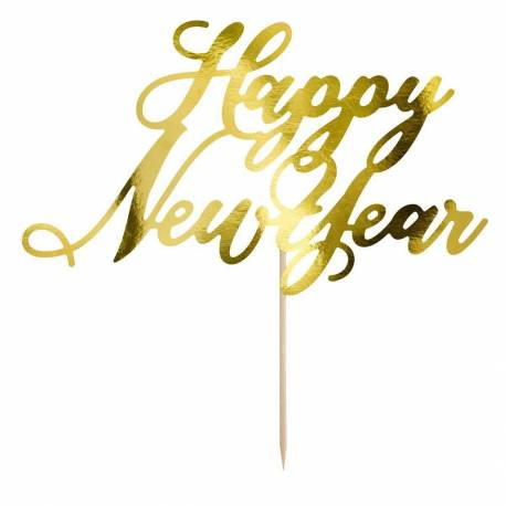 Topper Golden New Year HAPPY NEW YEAR
