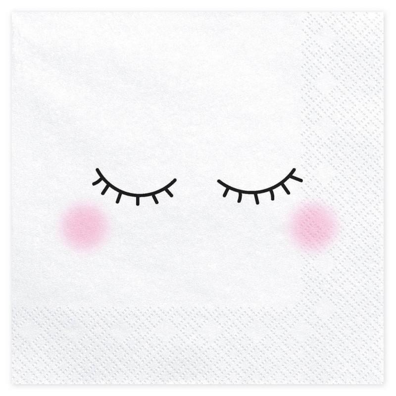 20 Towels white unicorn eyes