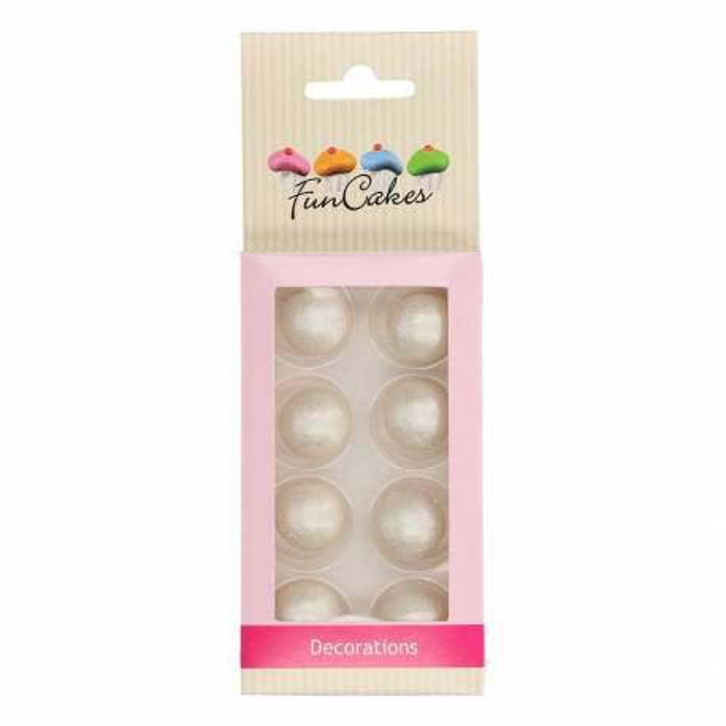8 bolas de chocolate de plata funcakes
