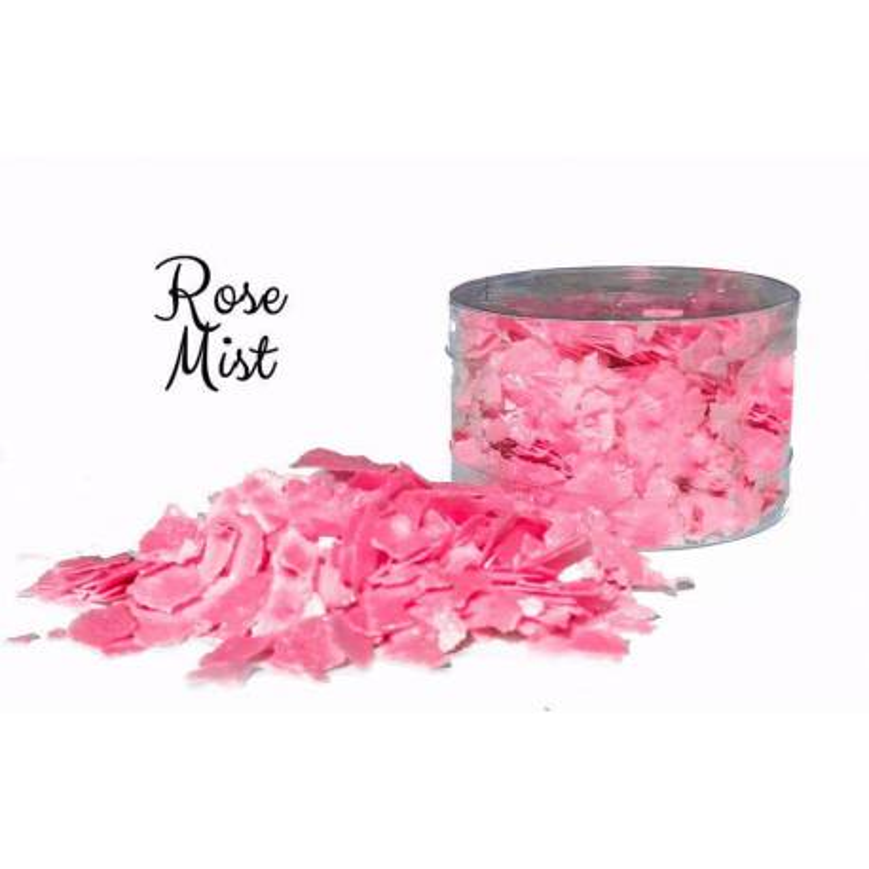 Pink edible flakes