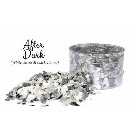 Edible flakes Mix white and silver