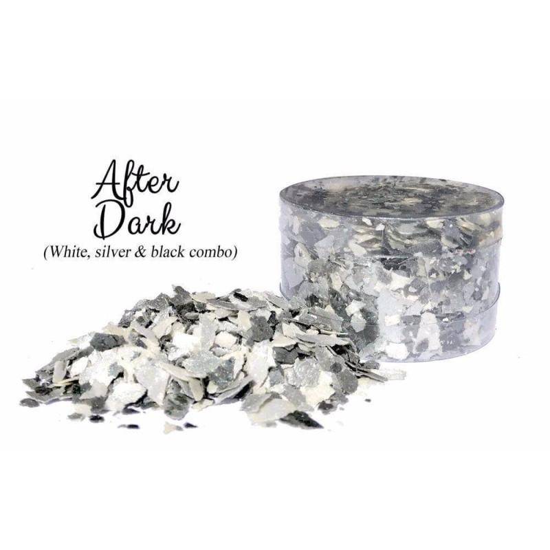 Escamas comestibles Mezcla de blanco y plata