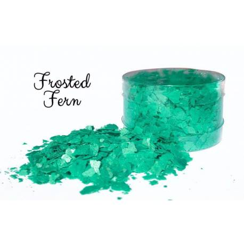 Green edible flakes