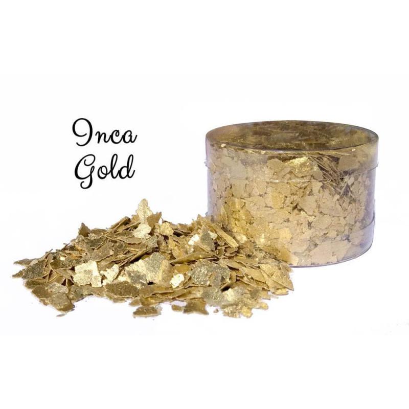 Edible flakes in Inca gold
