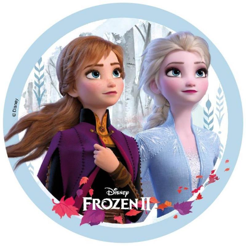 Disco en papel de oblea FROZEN 2 - Elsa y Anna