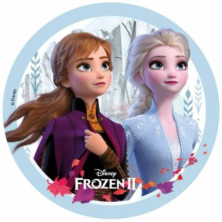 Edible wafer Disk FROZEN 2 - Elsa and Anna