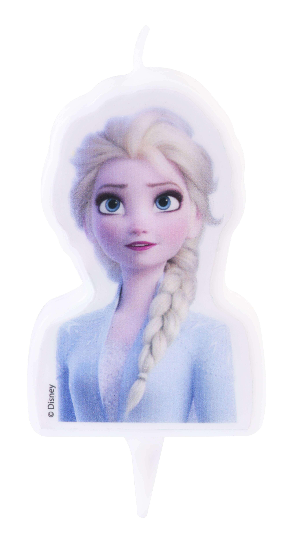 Candle Of Elsa Frozen 2 In 2d Planete Gateau Cake Design